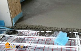процесс укладки теплого водяного пола
