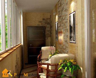 балконы отделка фото
