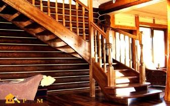 лестницы в деревянных домах фото