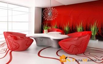 наливные полы 3д фото в красных цветах