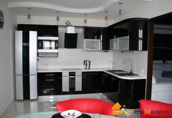 потолки из гипсокартона фото кухни