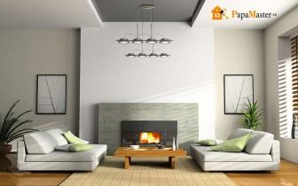 интерьер гостиной с камином отличный вариант для любого загородного дома