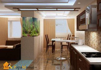 Планировки кухонь гостиных