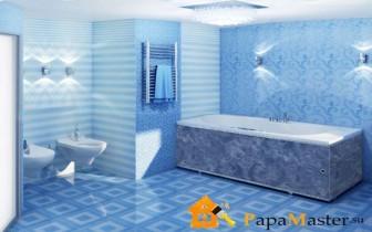 Пластиковые панели отделка ванной комнаты