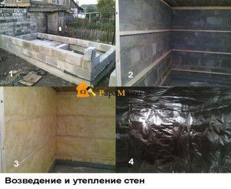 Строительство из пеноблоков бань - стены