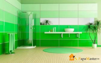 Пластиковые панели отделка ванной комнаты 2
