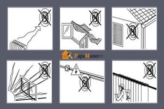 правила безопасной установки датчика движения