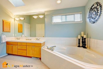 ванная акриловая асимметричная