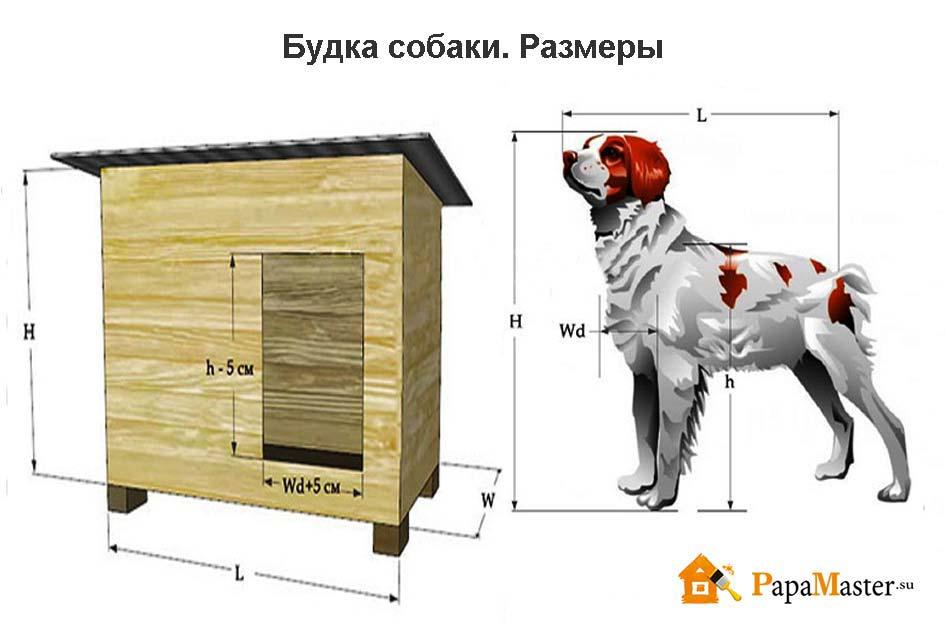 Будка для собак своими руками чертеж и сборка