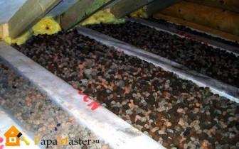 утепляем потолок керамзитом