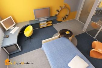 дизайн спальни - гостиной