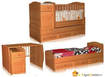Детская кровать со столом 2