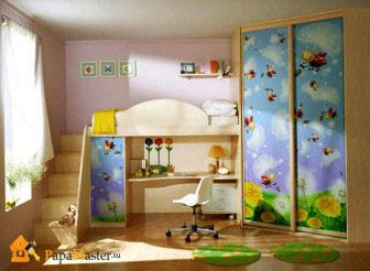 Детская кровать со столом 3