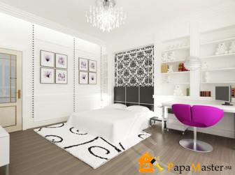 Дизайн спален для девушек с белой мебелью