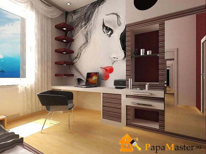 Дизайн спальни японского стиля