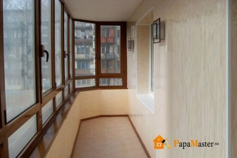 обшивка балкона пластиковыми панелями-2