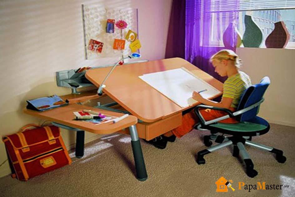 стол для школьника фото угловой