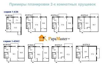 варианты планировки 2-х комнатной квартиры в хрущевке
