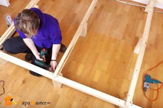 сборка встроенной шкаф-кровати
