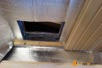 слой пароизоляции при утеплении потолка в бане