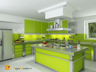 Awesome Green and White Kitchen Cabinets  2019 Color Trends