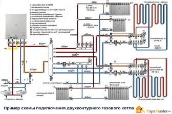 схема подключения газовых двухконтурных котлов