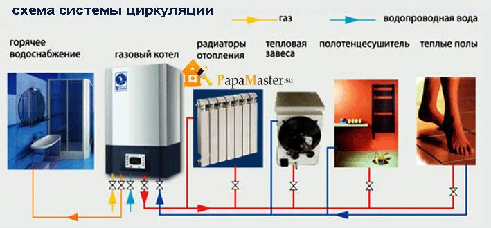 схема системы циркуляции