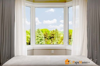 шторы на эркерные окна