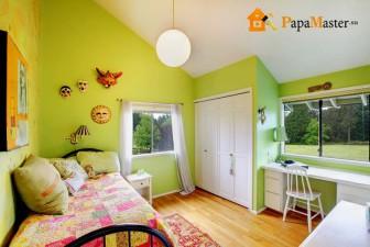 мебель для комнаты подростка девочки - зеленые стены
