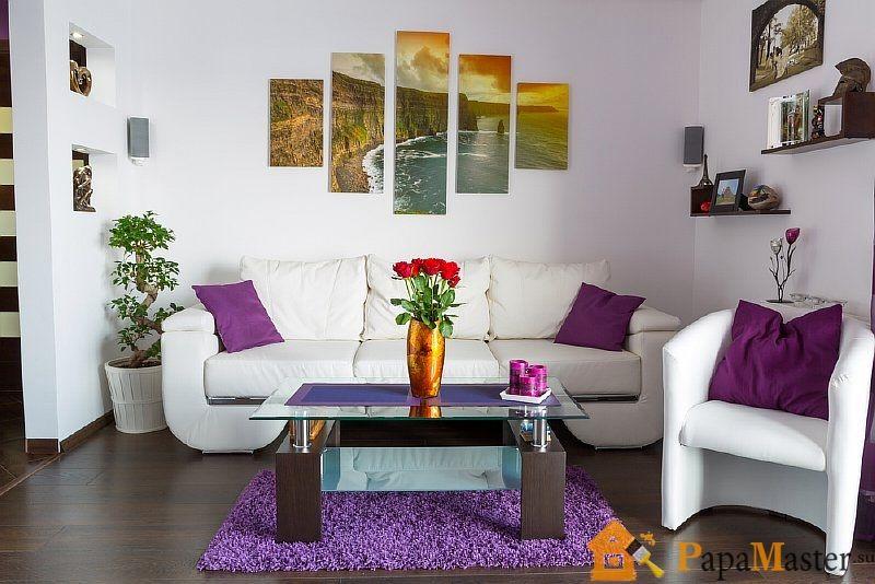 Интерьер с белыми стенами фото