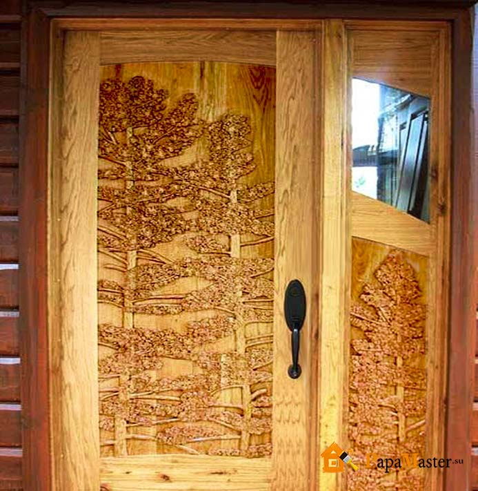Изготовить дверь из дерева своими руками 511