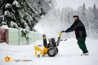 Электрическая снегоуборочная машина для дома