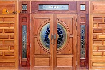 изготовление деревянной двери своими руками