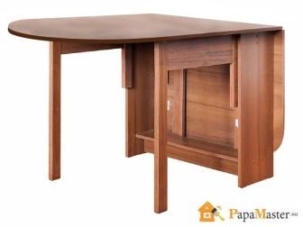 складной обеденный стол овальной формы
