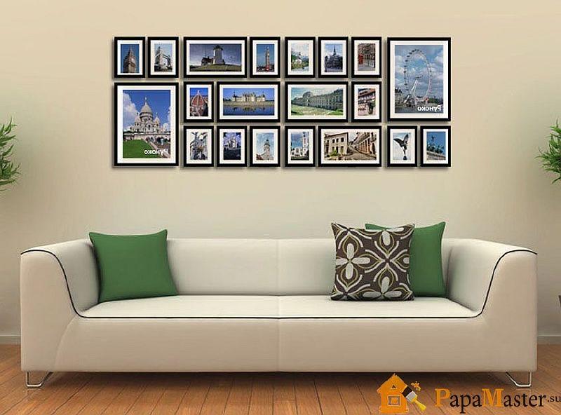 оформление фотографии на стене