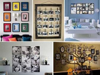 фото с рамками на стенах