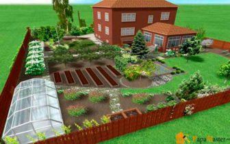 Дачный участок 6 соток дизайн с садом