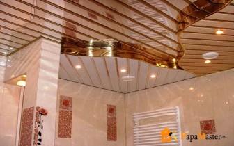 реечный потолок под золото
