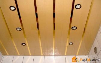 реечный потолок под золото матово глянцевое
