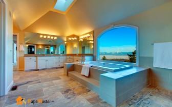 вариант потолочного покрытия для ванной