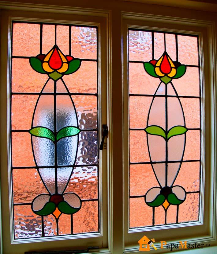 Витраж на окнах своими руками фото 35