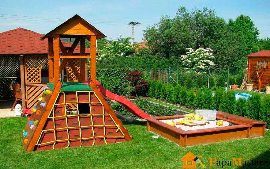 Сооружения на детской площадке своими руками