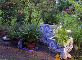 Дизайн сада фото - садовая мозаика