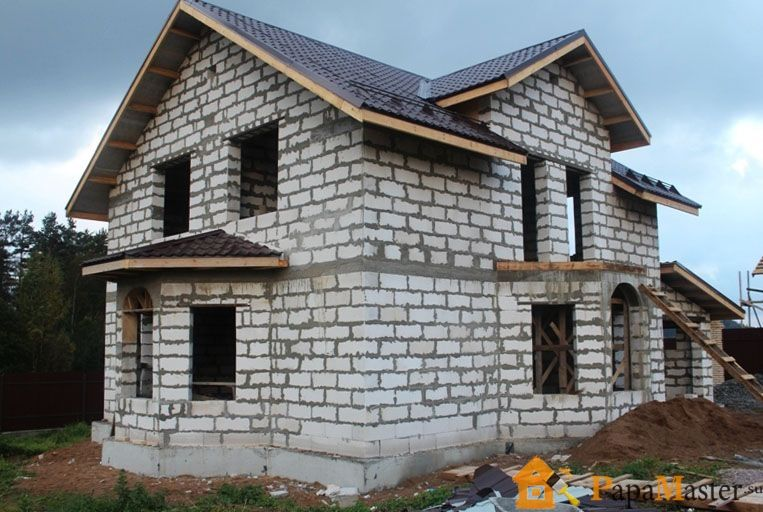 Дом с пеноблока фото