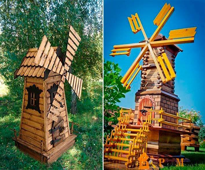 Ветряная мельница для дачи своими руками 30