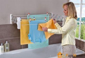 Настенная сушилка для белья в ванную)