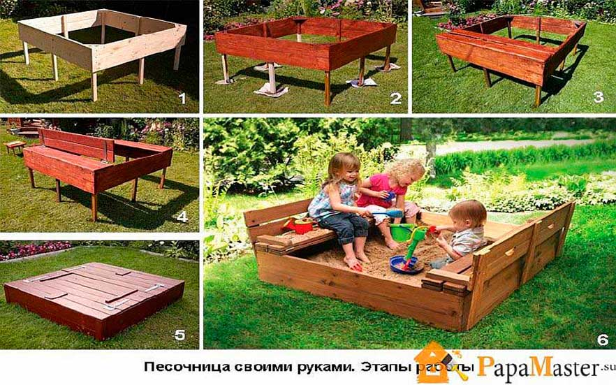 Детская площадка на даче своими руками — примеры