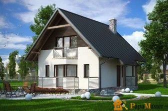 Проекты небольших домов с мансардой