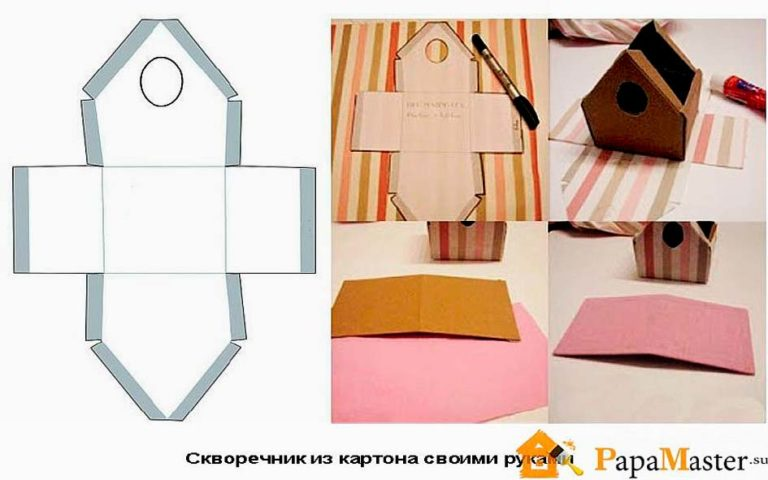 Скворечник из бумаги декоративный
