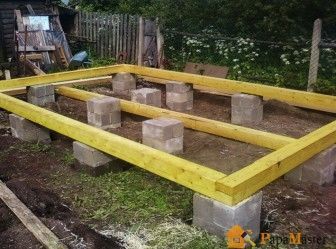 Фундамент столбчатый из блоков